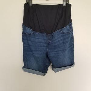Isabel Maternity denim bermuda shorts 16
